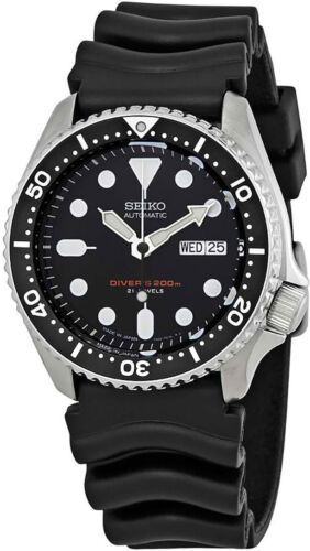 Купить Seiko - Seiko Men's Automatic Black Dial Black Rubber Watch SKX007J1