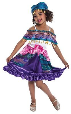 NEW Girls GYPSY Fancy Costume Fortune Teller Dress Up Childs Cosplay Dancer - Gypsy Girl Costume