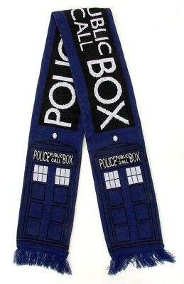 Doctor Who Tardis Adult & Teen Knit Costume Scarf By Elope (Doctor Who Tardis Costume)
