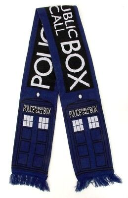 Doctor Who Tardis Adult & Teen Knit Costume Scarf By Elope