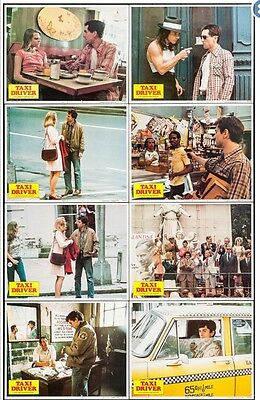 Original Taxi Driver Lobby Cards Set Of Eight. Movie Poster. Beautiful Set.