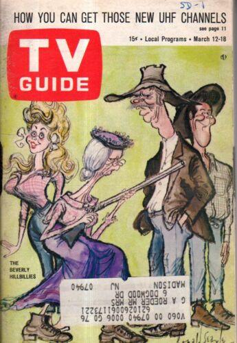 1966 Tv Guide März 12-I Traum von Jeannie;Beverly Hillbillies;Caprice Yeudleman