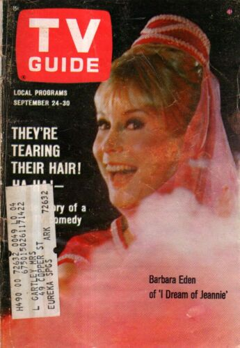 1966 Tv Guide September 24 - Barbara Eden-I Traum von Jeannie; Lost in Space;