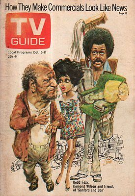 1974 TV Guide October 5-Demond Wilson - Sanford and Son; How to survive marriage
