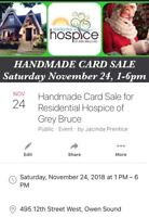Handmade Card Sale for Residential Hospice of Grey Bruce