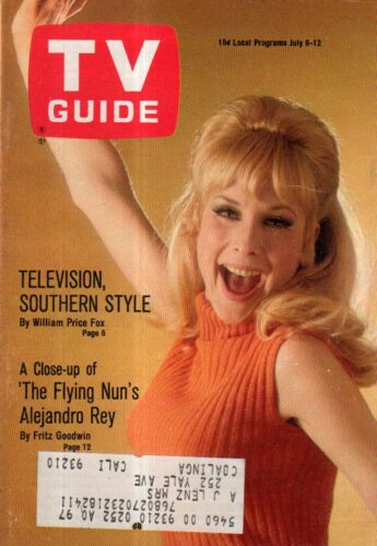1968 Tv Guide Juli 6 - Barbara Eden - I Traum von Jeannie; Alejandro Rey ;
