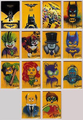 LEGO BATMAN - MOVIE POSTER MAGNETS (joker harley set logos dc toys minifigures)