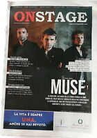 Muse On Cover Of On Stage Magazine Large Format 2012 Italy Cremonini Skunk Skin -  - ebay.it