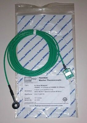 New Fluke Datapaq Pa0082c Precision Washer Thermocouple Type K Quad Wrapped