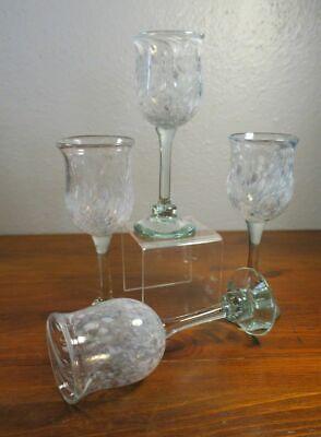 Henrik Fraulund Denmark Art Glass Wine Stemware Glasses. 3D