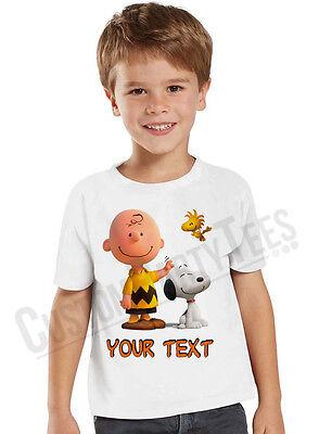 Charlie Brown Birthday T-Shirt Custom Name and Age Personalized Snoopy - Charlie Brown Birthday