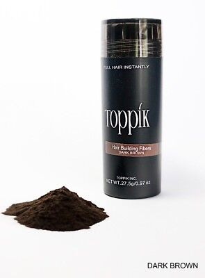DARK BROWN TOPPIK Hair Loss Building Fiber 27-5g FREE AND FAST SHIPPING IN USA - Hair Building Fibers