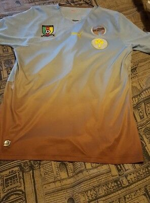 RARE 2010 Africa Unity Special Edition Cameroon/Cameroun Jersey Size L image