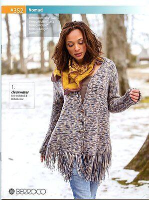 - Berroco Knitting Pattern Book #352 Nomad - 6 designs for women