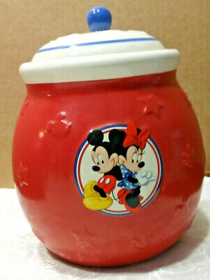Mickey & Minnie Mouse Colorful Decorative Ceramic Cookie Candy Jar Gift Idea