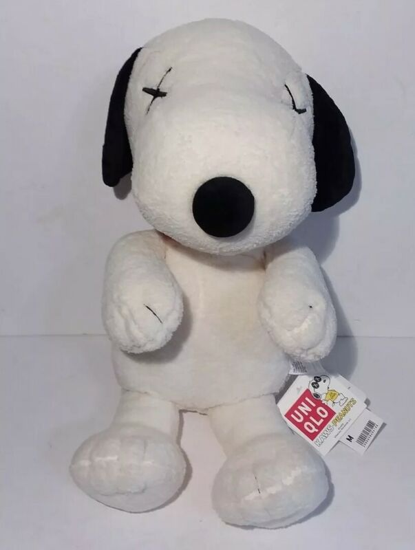 Kaws Peanuts Snoopy Stuffed Plush Uniqlo 22 Inch Uni Qlo With Tags