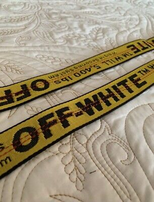 Authentic Off White Industrial Tie Down Yellow Belt Virgil Abloh