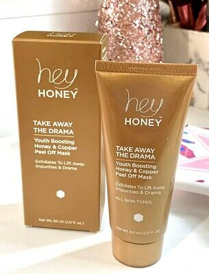 Hey Honey Take Away The Drama Honey & Copper Peel Off Mask MSRP $49! Youth Boost
