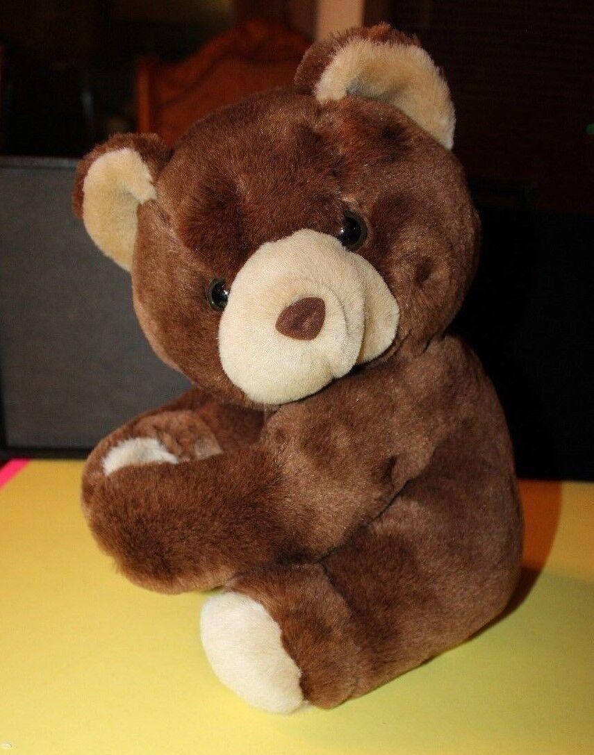 Vintage CHOSUN Teddy Bear Hugging Arms W/ Velcro 11 Made In Korea  - $9.99