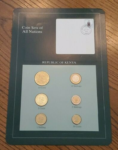 Franklin Mint Coin Sets of All Nations - Kenya 6 Coins & Stamp