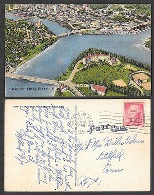 1955 Florida Postcard - Tampa - Aerial View