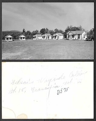 Old Real Photo Postcard - Franconia, New Hampshire - Wilson's Wayside Cabins