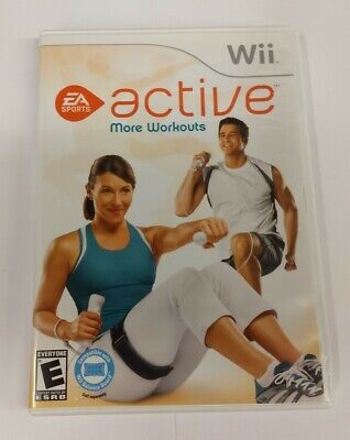 EA Sports Active More Workouts (Nintendo Wii) Complete with Case and