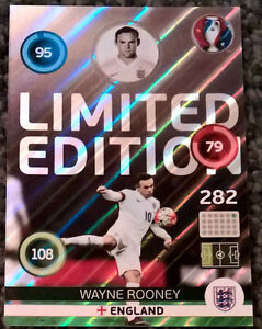 Panini EURO 2016 Adrenalyn XL WAYNE ROONEY England LIMITED EDITION Football Card