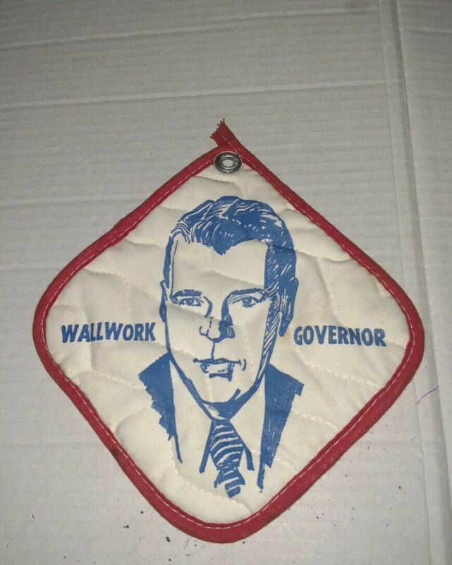 Vintage political Vote GOP NJ governor senator Jim Wallwork campaign pot holder