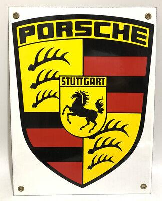 Porsche Porcelain Stuttgart 12 X 9 inch Sign Dealer Advertising Enamel Vintage