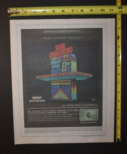 The Strokes 2011 Color Concert Ad MSG NYC