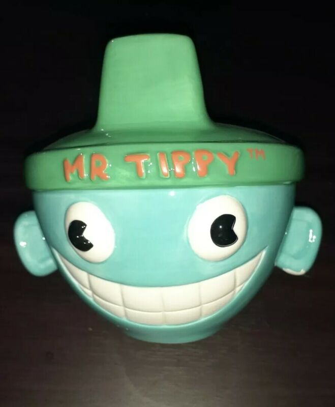 Nickelodeon 1996 Rugrats Mr. Tippy Sippy Cup Ceramic Coin Piggy Bank Rare HTF