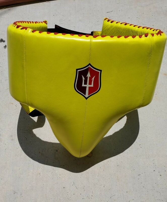 Infinitude Pro Boxing Cup Groin No Foul Protector Mexican Style Large Leather
