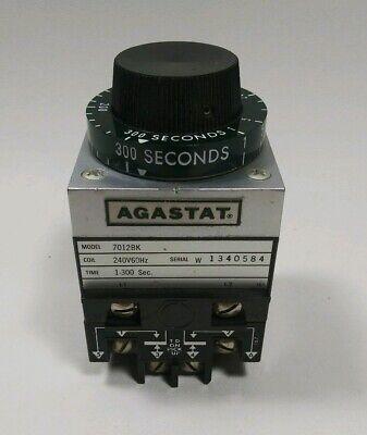 Agastat 7012bk Timing Relay Coil 240v60hz Serial 1340584 Time 1-300 Sec