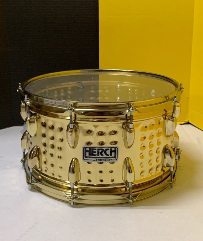 """Herch 14"""" Steel Gold Chrome 10 lugs Made In Mexico Ships from USA"""