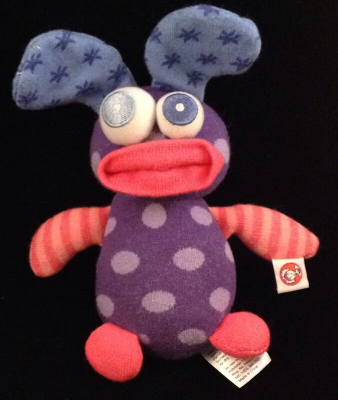 "Miss Matched Purple Pink Blue 8"" Sock Toy Plush Girls Missmatched"