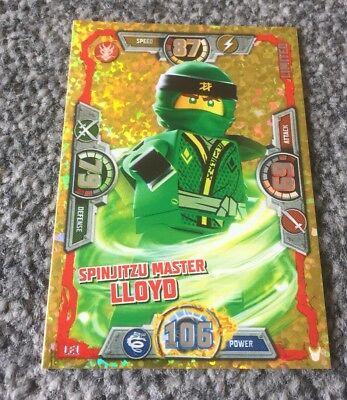 LEGO NINJAGO SERIES 3 SPINJITZU MASTER LLOYD LIMITED EDITION CARD LE1