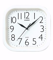 Casio Analog Quartz White Resin Wall Clock IQ02-7R