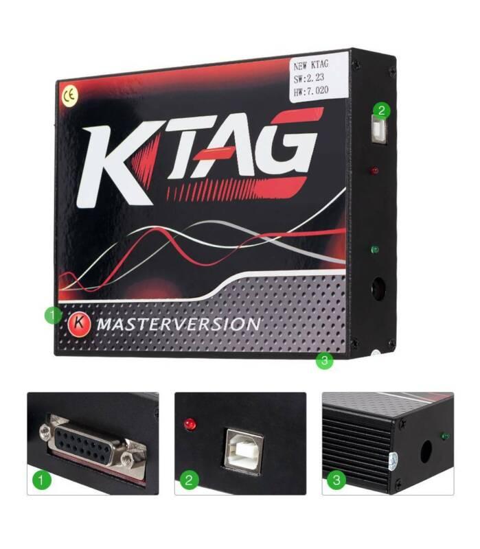 Owner KESS V2 V5.017 KTAG V7.020 No Tokens Red Tool Kit Master Online ECU Tuning OBD
