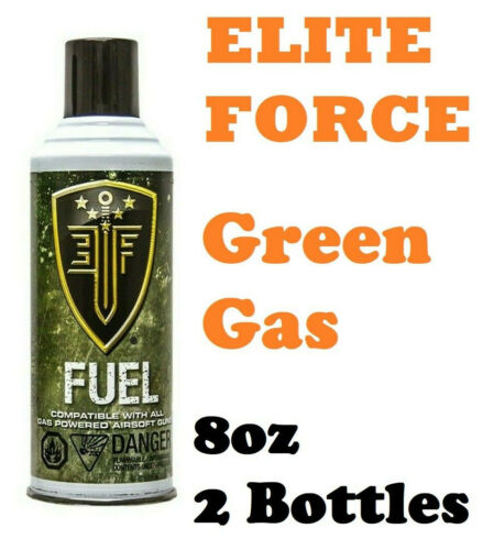 Elite Force Green Gas Cans with Silicone Oil for Airsoft Guns 8 oz Each - 2 Pack