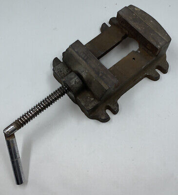 Vintage No.4 Machinists Drill Press Vise 4 Wide Jaw Opening 3 12 Cast Iron