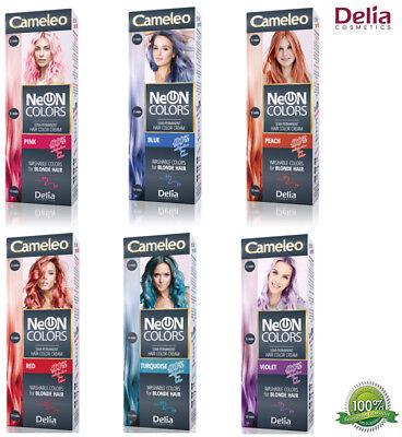 Delia Cameleo Neon Semi Permanent Hair Colour Cream Dye Vibrant Colours Tube