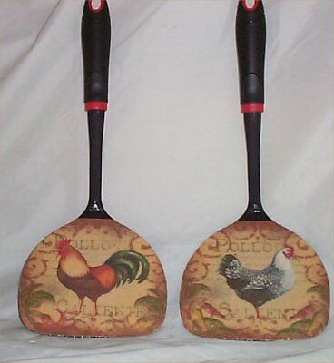 Rooster Large Black Wall Utensils Decor Kitchen Decoration Country Farm