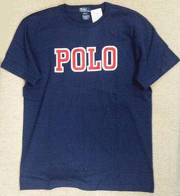 NWT Polo Ralph Lauren Boys Sz XL Logo T- Shirt Navy C/L