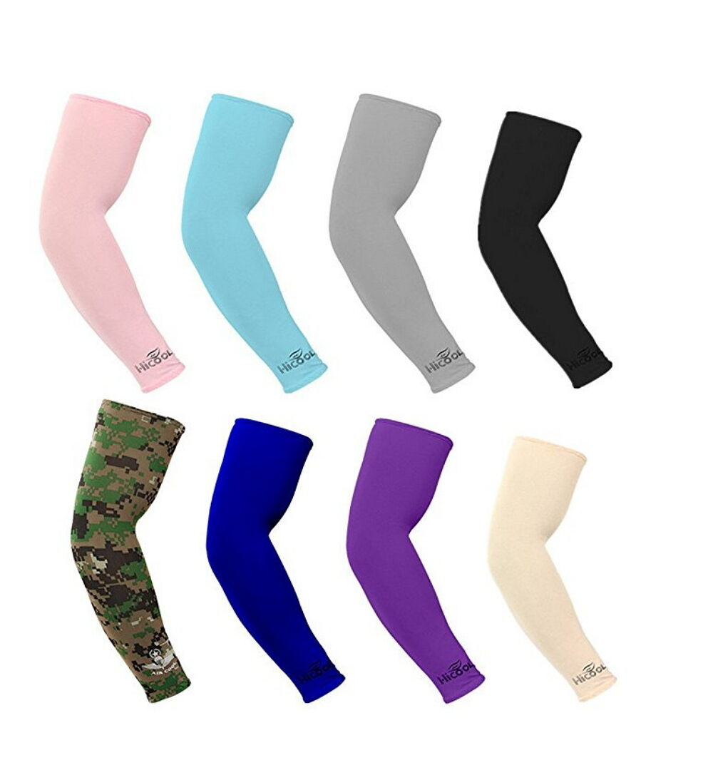 8 Pairs(16 pieces) Cooling Arm Sleeves Cover UV Sun Protection Basketball Sport Basketball