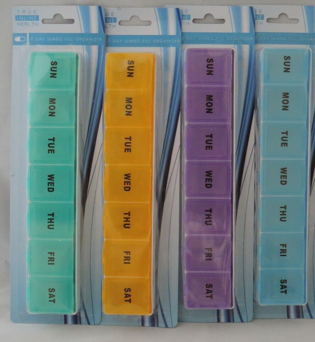 1 NEW JUMBO LARGE Pill Box Case Organizer Medicine Vitamins