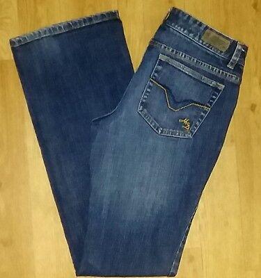 HARLEY DAVIDSON Sz 4 Long Boot Cut Women's Motorcycle Pants Slacks Denim Jeans!