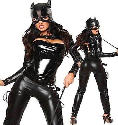Sexy Damen Kostüm Cat Katze Katzenkostüm Catsuit Woman Women Gr. S-M 36 38 ()