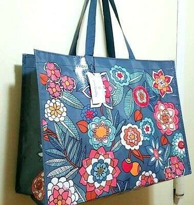 VERA Bradley TROPICAL EVENING MARKET XL Tote RECYCLABLE shopping, Gift bag  - Recycled Tote Bags
