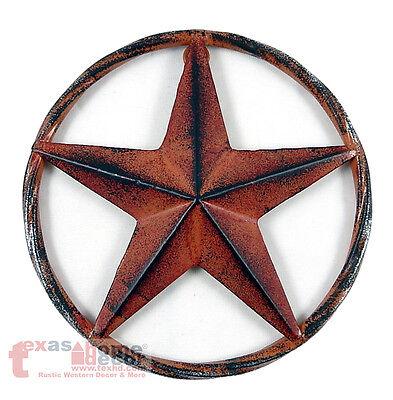 Barn Star Decor (Barn Star Rust Red Rustic Tin Metal Rope Like Ring Texas Wall Decor 3D)